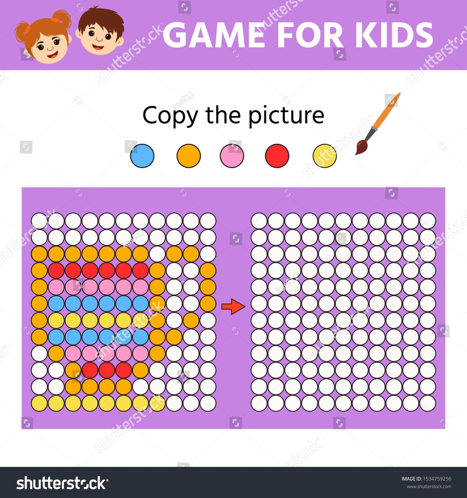 Educational Game For Kids Copy The Picture Learning