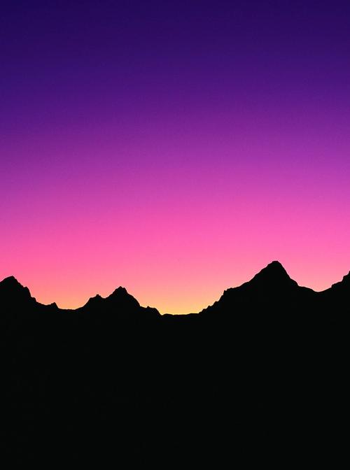 Easy Mountain Sunset Painting : mountain, sunset, painting, Mountain, Silhouette., Purple, Skies, Silhouette, Painting,, Sunset, Canvas, Painting