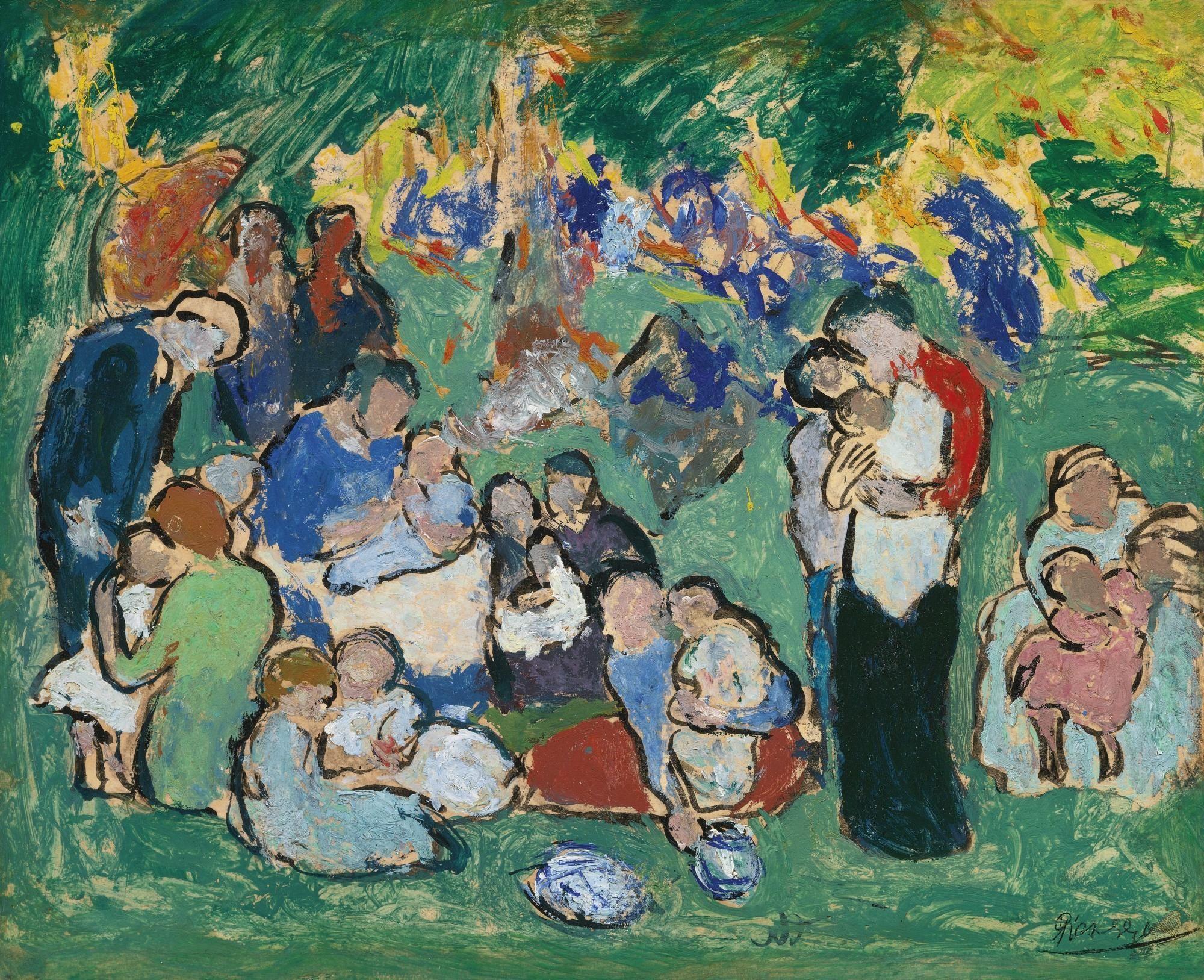 Pablo Picasso 1881 1973 Enfants Dans Le Jardin Du Luxembourg