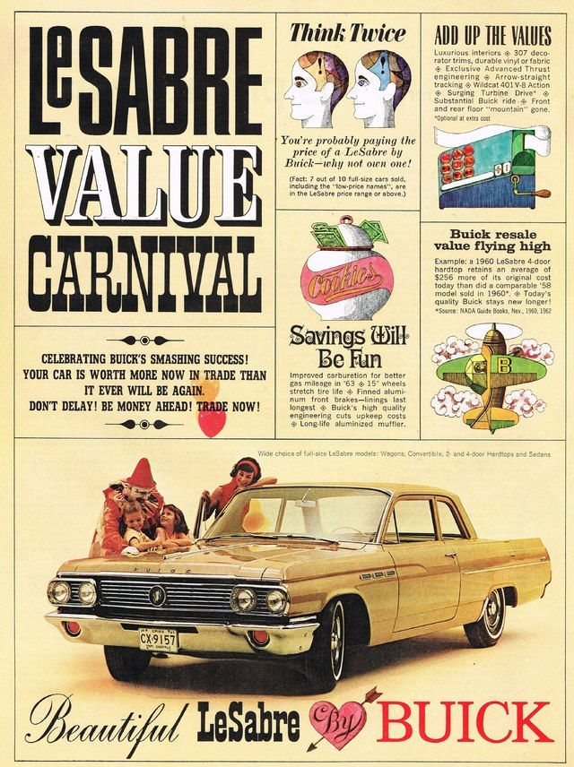 1963 Buick LeSabre Ad Photo Picture | Бьюик | Pinterest | Buick ...