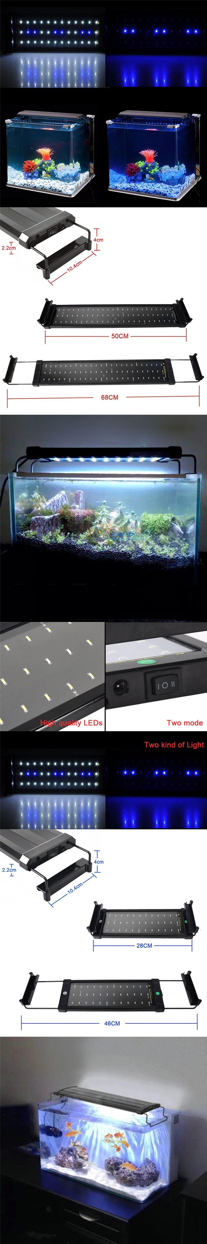 SMD Aquarium LED Lighting Fish Tank Lamp 2 size 50 68cm 28 46cm