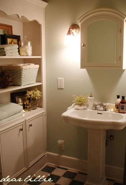 Bathroom Design Centers Best Storage Like This In Powder Roomlooks Like A Recycled Hutch Or 2018