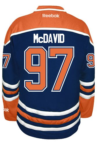 low priced 394fd 22adf Edmonton Oilers Connor McDAVID #97 Official Home Reebok ...