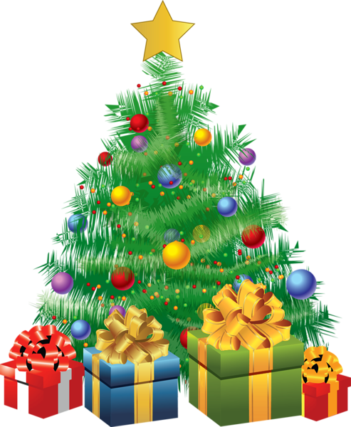 Transparent Christmas Green Tree With Gifts Png Picture Christmas Tree Clipart Blue Christmas Tree Christmas Pictures