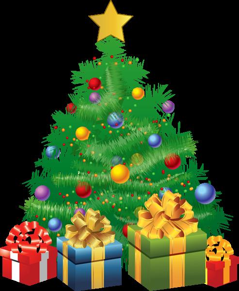 Transparent Christmas Green Tree With Gifts Png Picture Navidad Ilustracion De Navidad Imagenes De Navidad