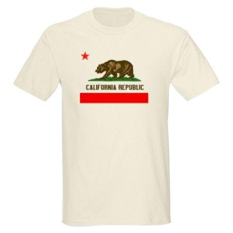 California State Outline Mens Shirts California Republic Mens Shirt