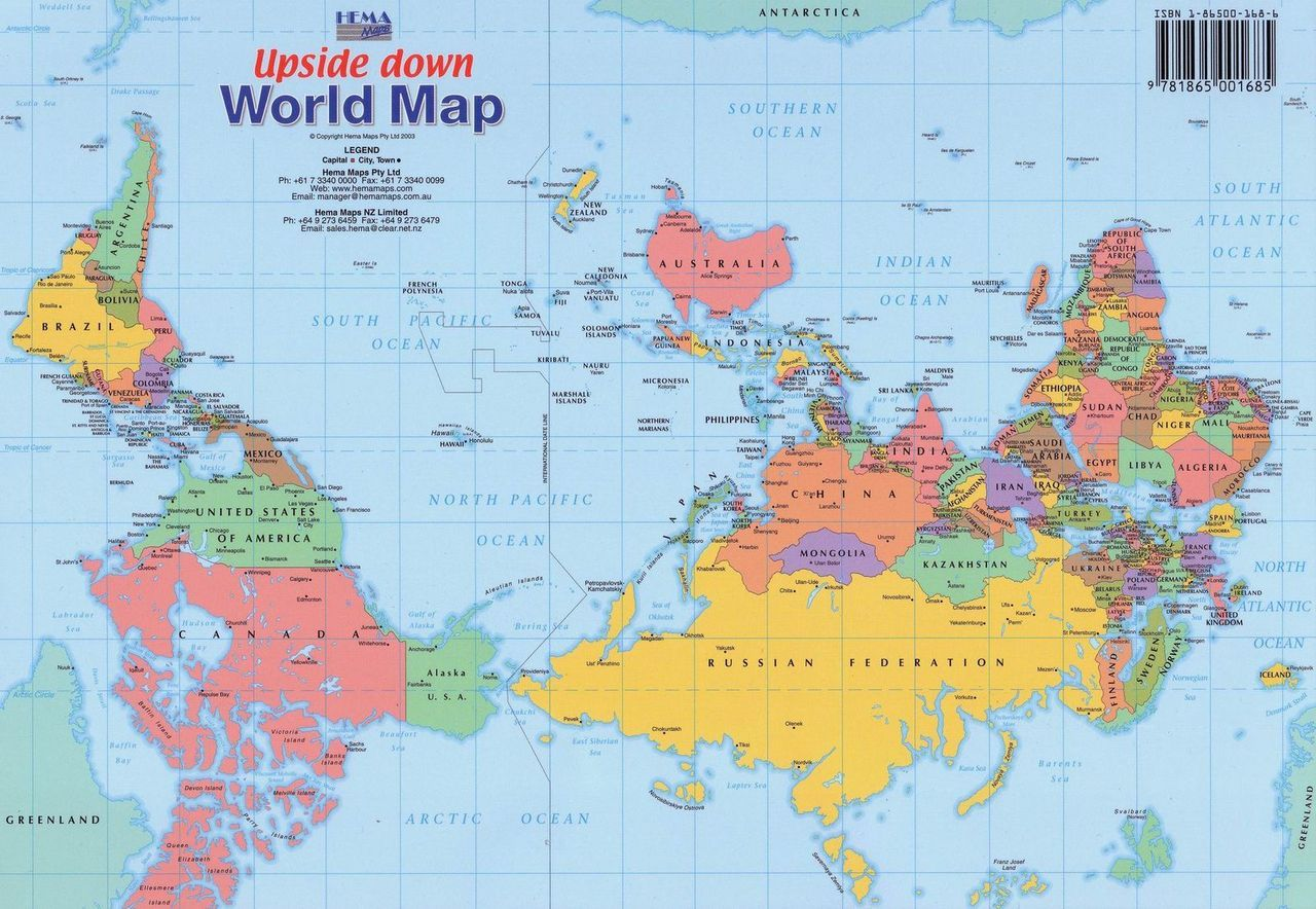 Upside down map of the world by hema maps want your own upside upside down map of the world by hema maps want your own upside down vector map httpbit1lkyrxc gumiabroncs Images