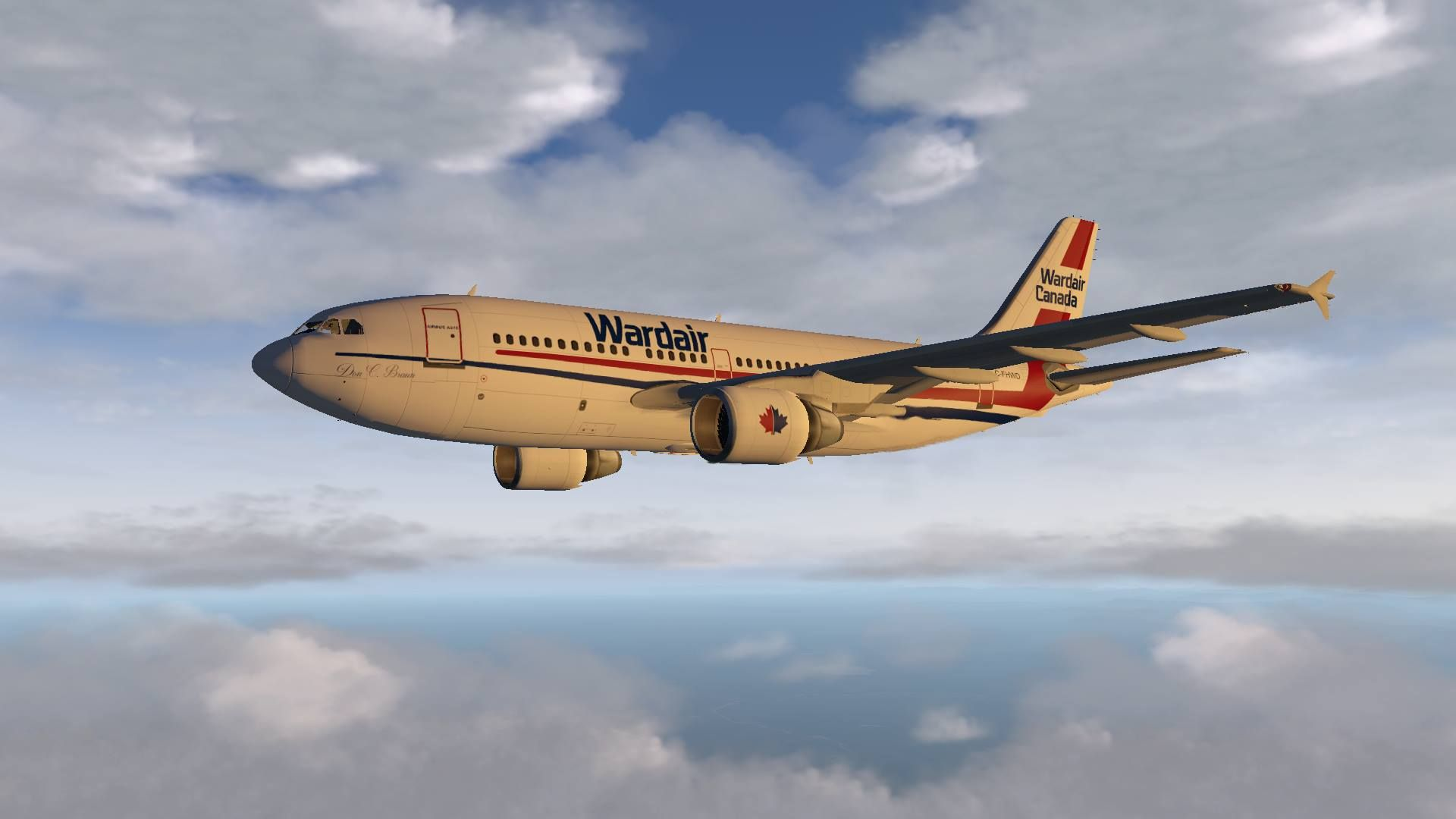 Wardair Canada Airbus A310 livery painted by me for the A310