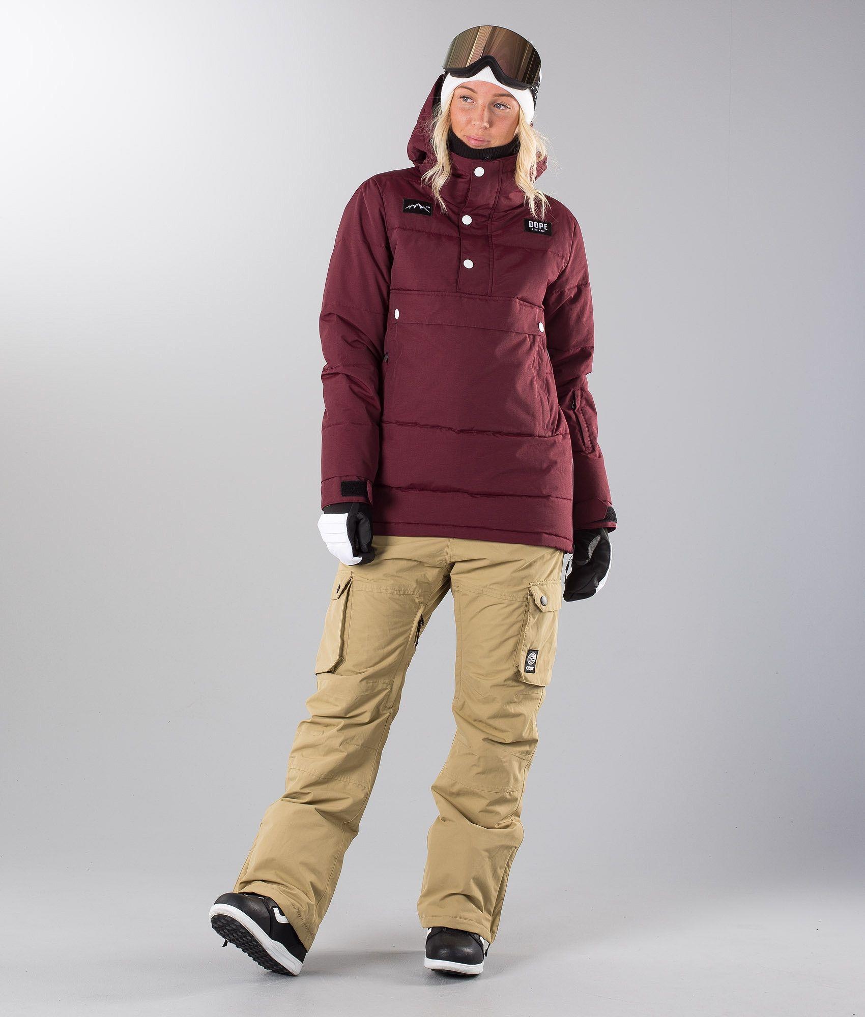 17dc66e5aaf7 Dope Puffer W Snowboard Jacket Burgundy