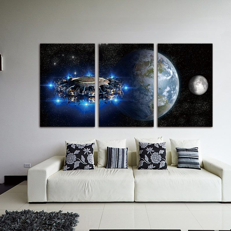 3 Piece Modular Pictures Printed Star Wars Stormtrooper Movie Entrancing Modular Living Room Design Decorating Inspiration