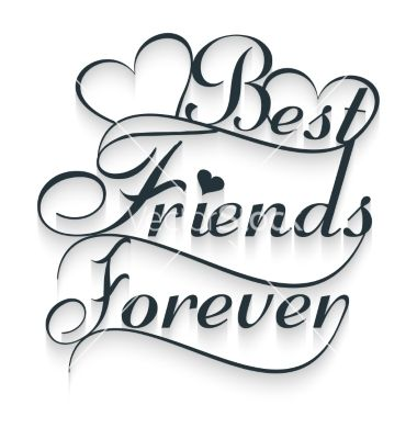 Best Friends Forever Calligraphy Text Vector Image On In 2019