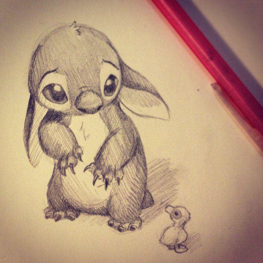 Little Stitch By Katsumikitten Deviantart Com Disney Drawings Disney Art Cute Disney Drawings