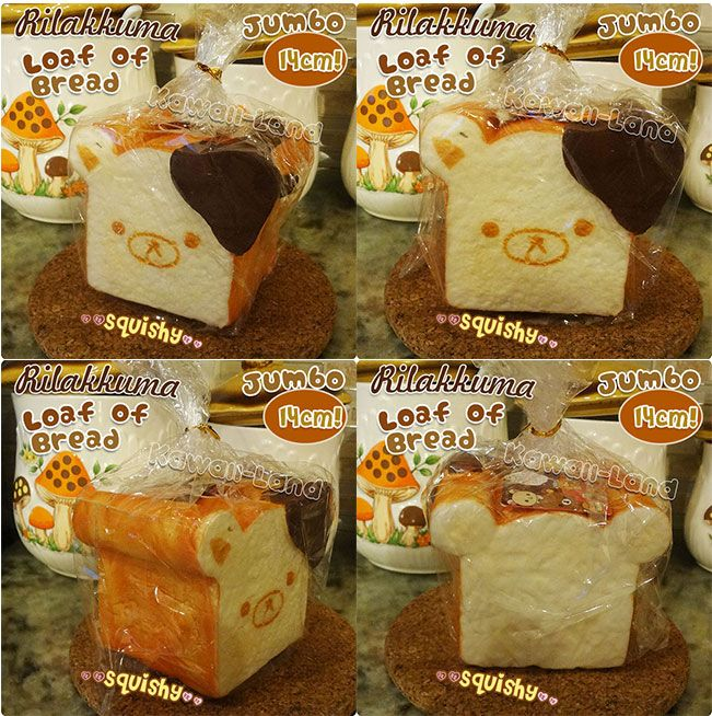 Rilakkuma Loaf of Bread Jumbo Squishy Kawaii Squishy Pinterest Rilakkuma and Squishies
