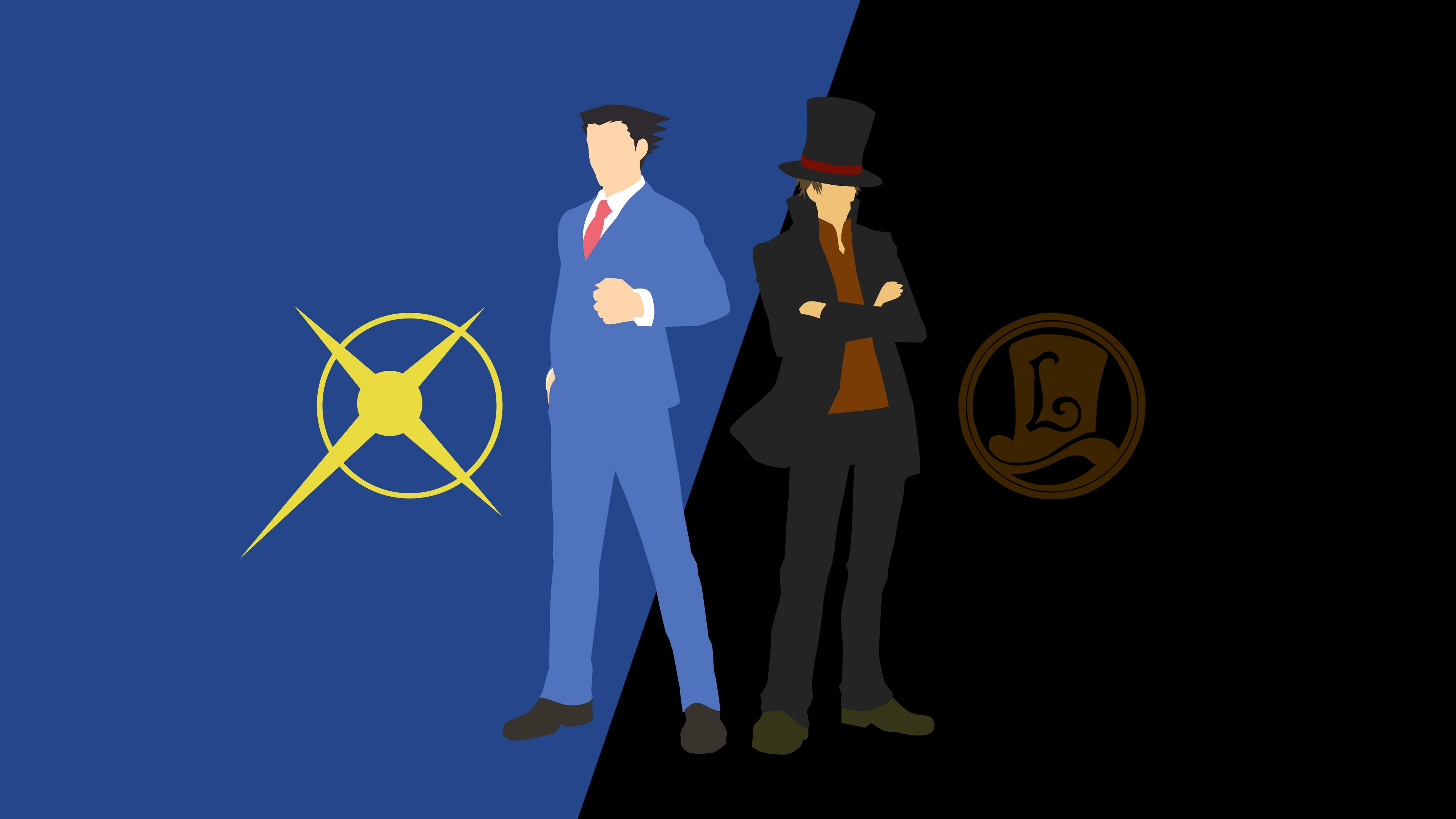 Ace Attorney Wallpaper Professor Layton Ace