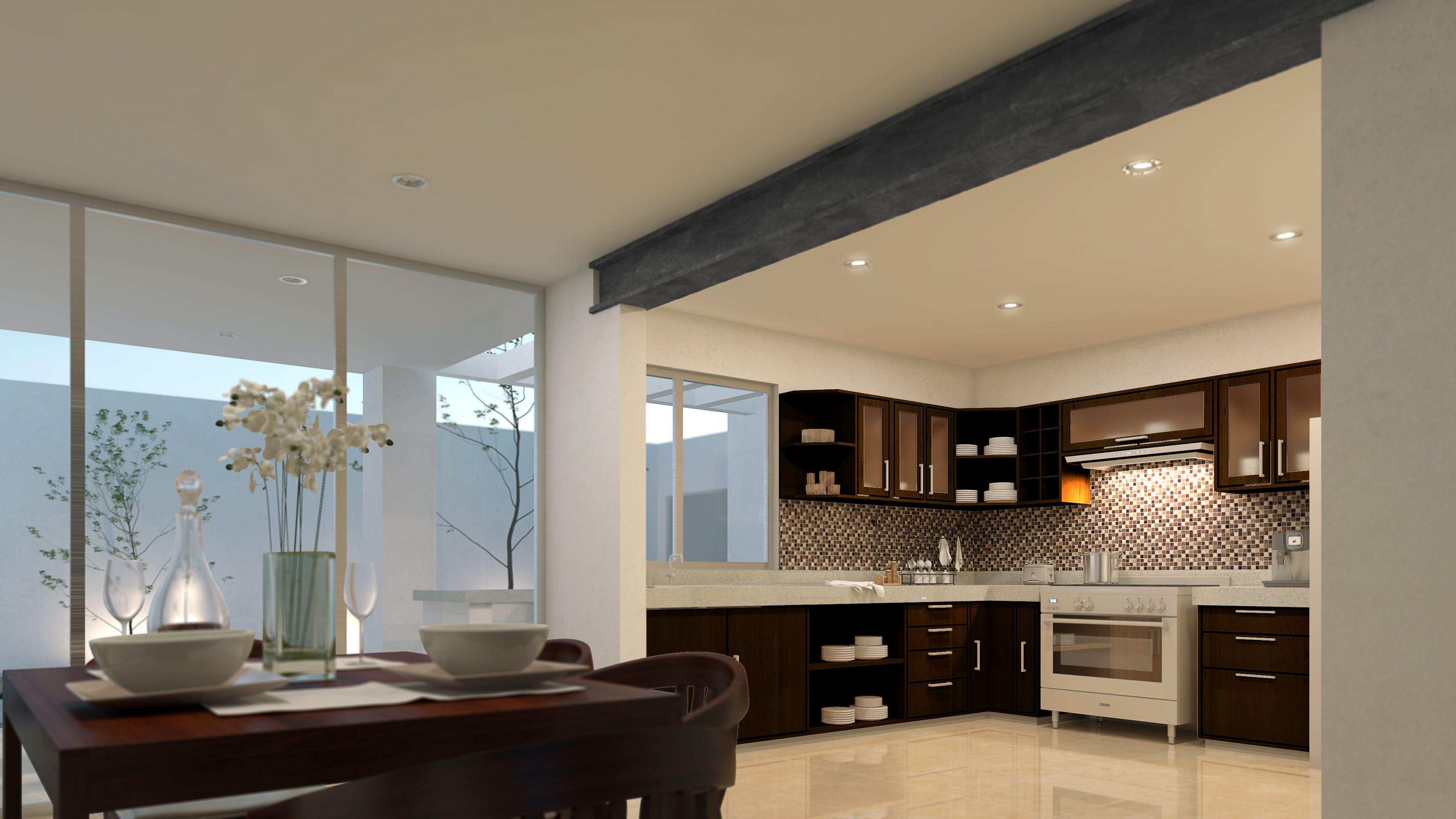 Cocina abierta a comedor dise o de interiores for Cocinas abiertas al comedor