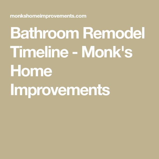 Bathroom Remodel Timeline and Process - Monk's in NJ ...