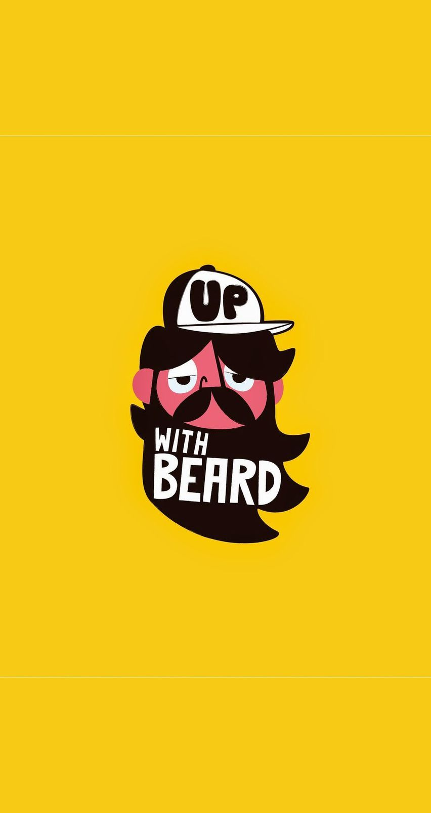 Up With Beard Tap Image For More Cartoon Wallpapers Mobile9 Funny Cute Wallpaper For Iphone 4 4 With Images Funny Iphone Wallpaper Beard Wallpaper Funny Wallpapers