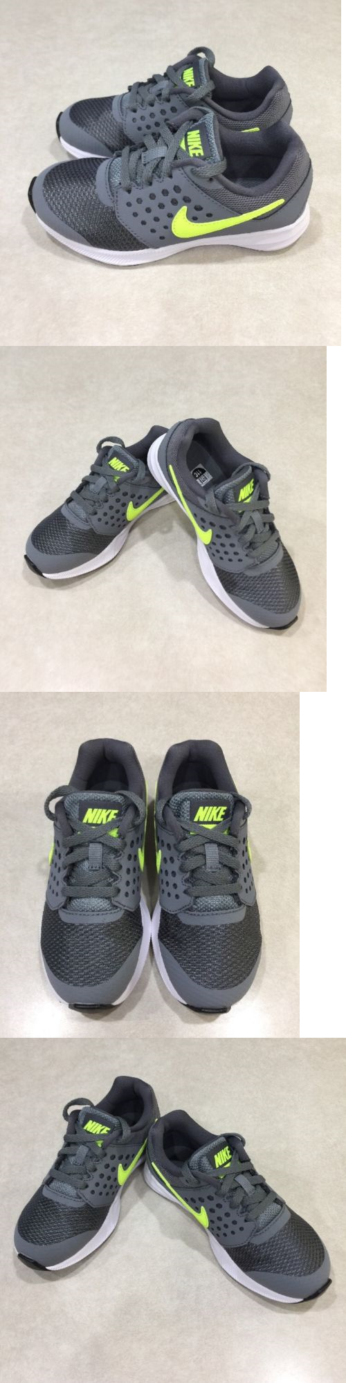 Boys Shoes 57929: Nike Downshifter 7 Youth Boy S Grey Volt Sneakers~~Size