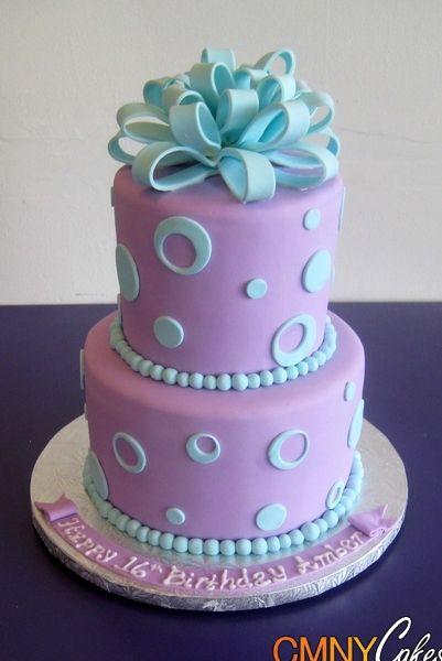 Lavender And Aqua Cake Blue Birthday Cakes Aqua Cake