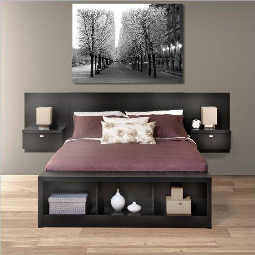Best Prepac Series 9 Platform Storage Bed With Floating 400 x 300