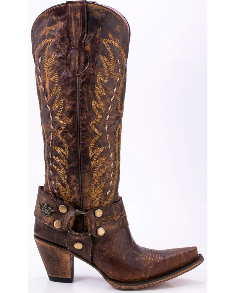 7299e4a6dc1 Junk Gypsy by Lane Women's Vagabond Harness Western Boots - Snip Toe ...