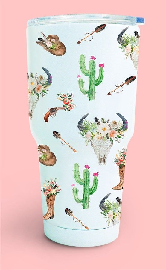 Self-Love Cactus Flower and Amazonite 8oz Tumbler
