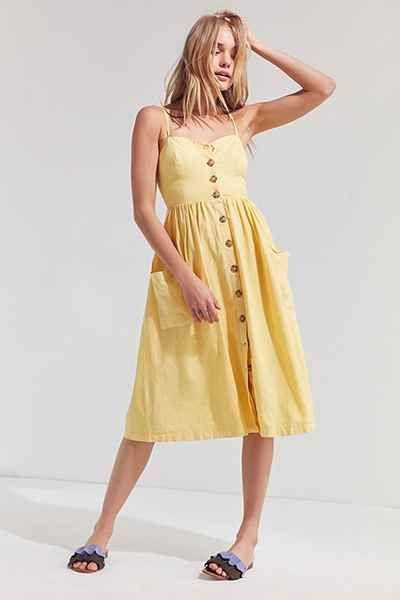 1fffc26f57f Cooperative Emilia Linen Button-Down Midi Dress
