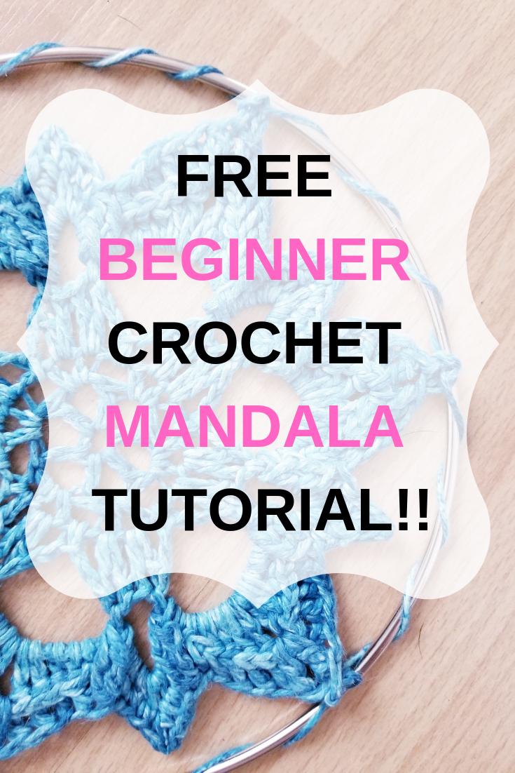 FREE BEGINNER CROCHET MANDALA TUTORIAL #crochetmandalapattern
