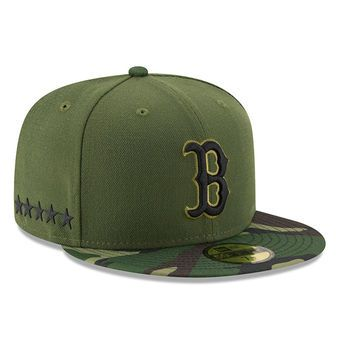 acdfaa0319310 Men s Boston Red Sox New Era Green 2017 Memorial Day 59FIFTY Fitted ...