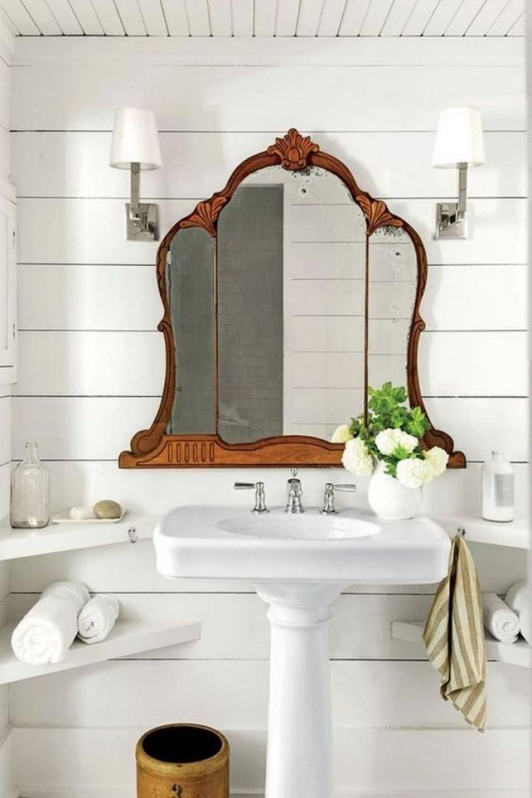 65+ Admirable Country Mirror Bathroom Decor Ideas #bathroomdesigns ...