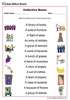Collective Nouns Worksheet   literacy   Nouns worksheet