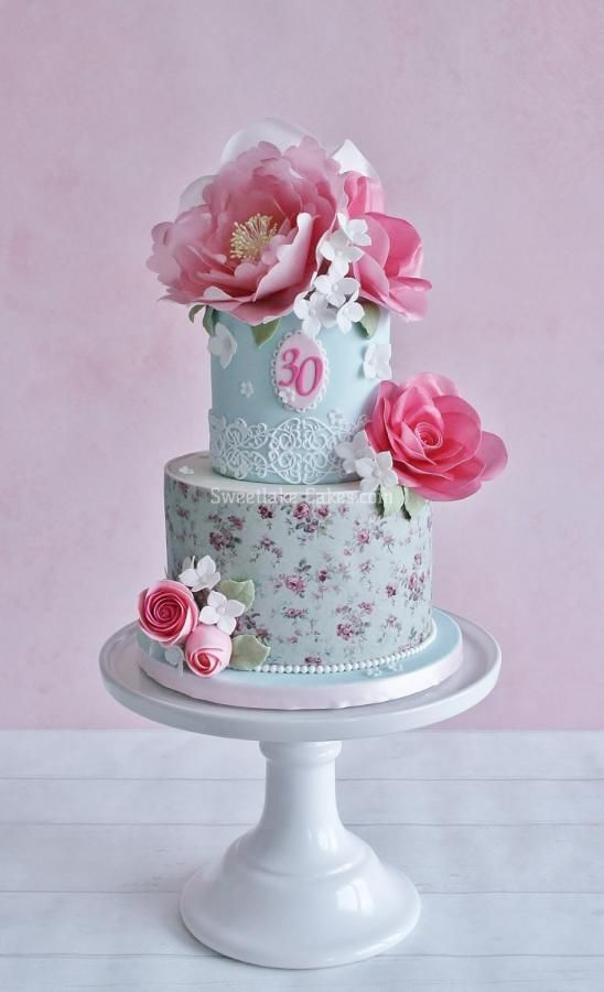 Shabby chic wafer paper flower cake sweetness pinterest wafer shabby chic wafer paper flower cake mightylinksfo