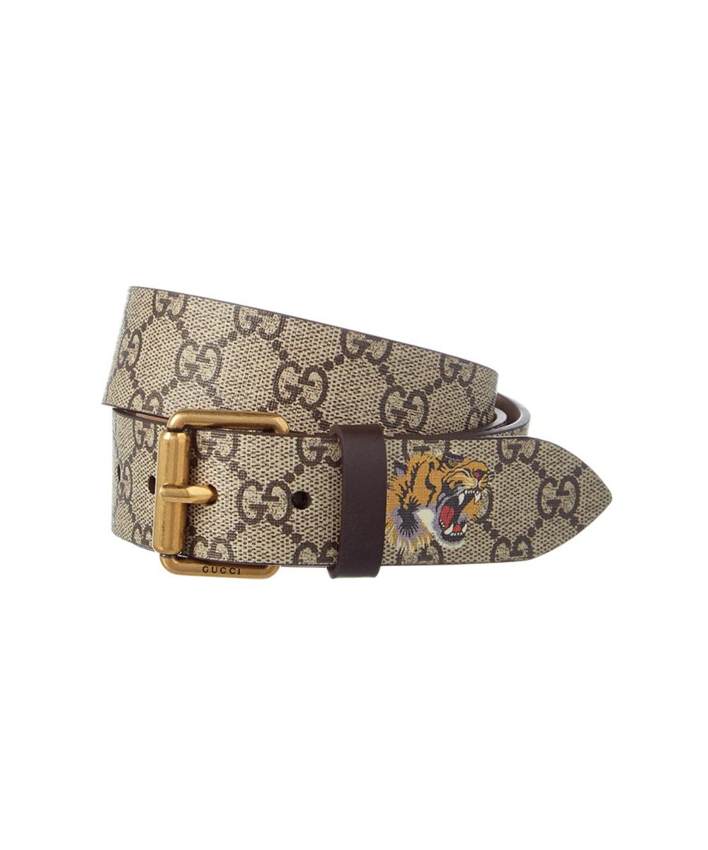 9f4324c0e4c GUCCI Gucci Tiger Print Gg Supreme Canvas Belt .  gucci  belts ...