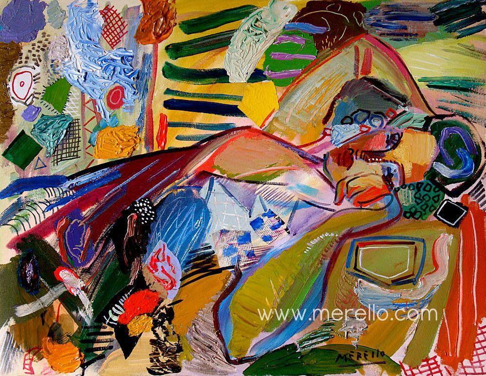 Art actuel jos manuel merello mujer de verano for Tableau peinture contemporain