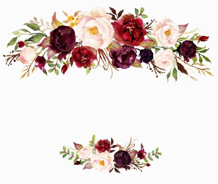 Pin By Ashleigh Ill On Calligraphy Wreath Prints Floral Border Design Flower Frame Watercolor Flowers