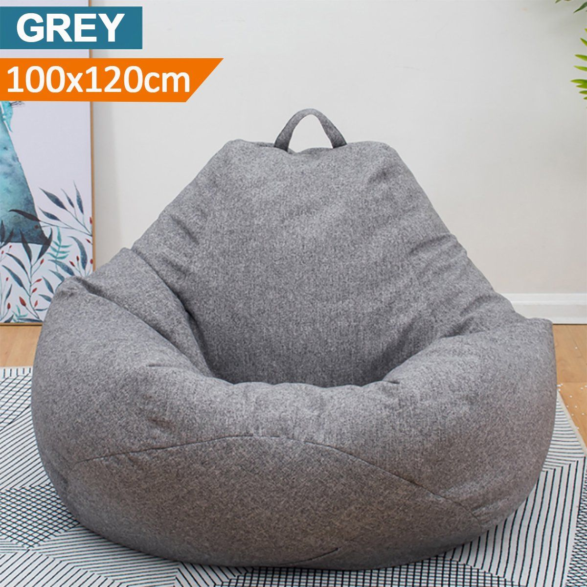 Adults Kid Large Bean Bag Chair Sofa Couch Cover Tall