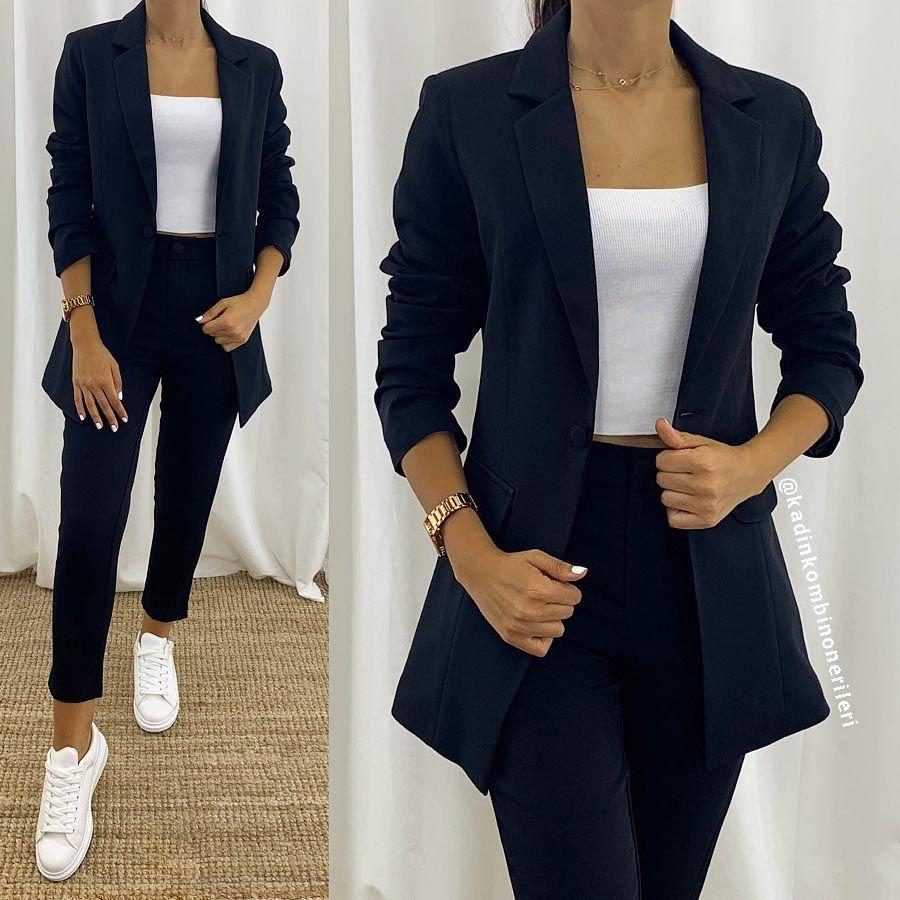 Ceket Ve Pantolon Bayan Takim Elbise Kombinleri Kombin Onerileri Erkek Ve Kadin Kombin Tavsiyeleri Moda Stilleri Moda Takim Elbise