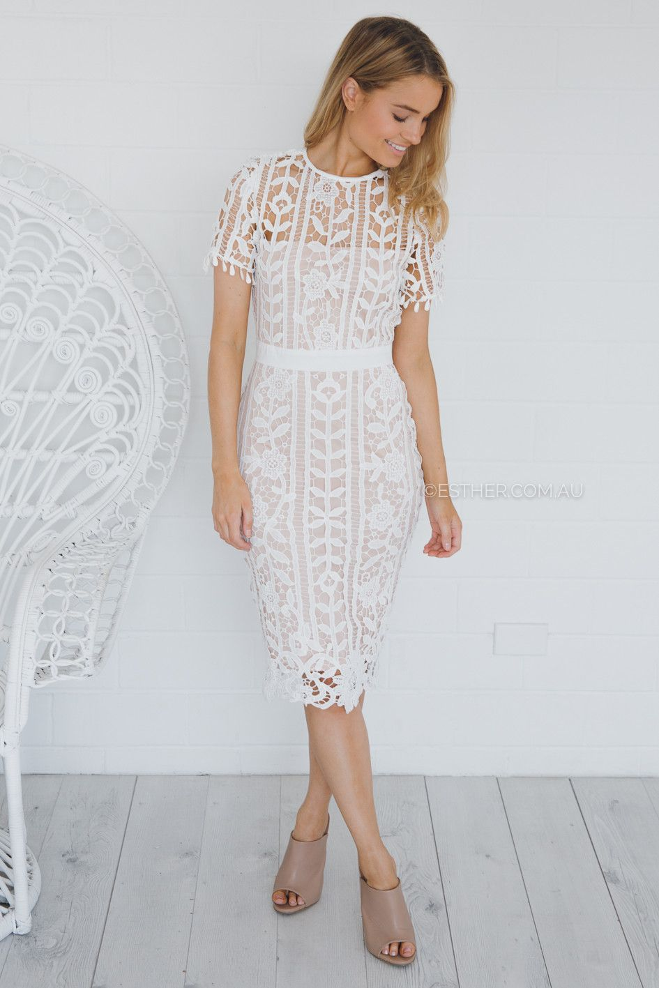 carmen dress - white | Esther clothing Australia and America USA ...