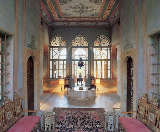 Central hall islamic architecture interior old houses metal tiny also best design images in lebanon cedar trees wood rh pinterest