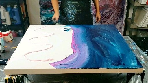 Photo of Abstract painting, combination technique