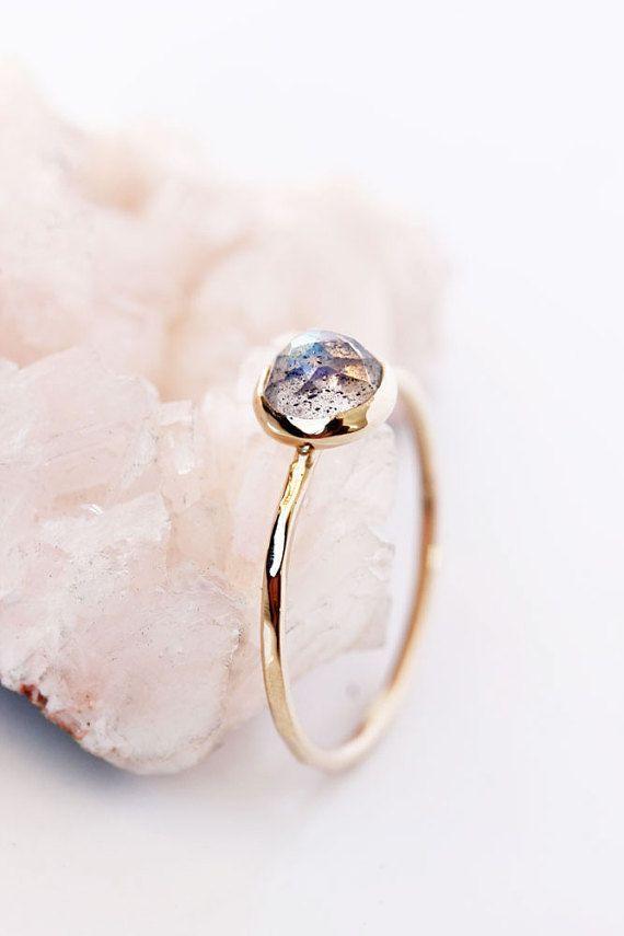 Rose cut labradorite 14k gold ring gold by BelindaSaville on Etsy