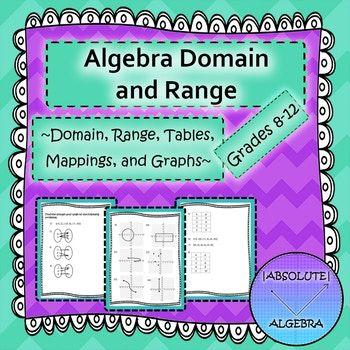 Algebra Domain and Range Scrambled Answers | Algebra, Activities and ...