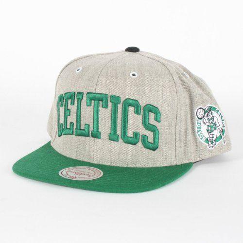 f522dc64dac Boston Celtics Mitchell   Ness NBA HWC Basic Arch Road Grey Snapback Hat by  Mitchell   Ness.  22.97