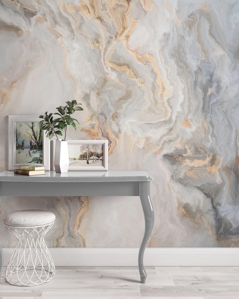 White Marble Pattern Curly Grey Golden Look Abstract Wallpaper Etsy Gold Abstract Wallpaper Gold Marble Wallpaper Marble Effect Wallpaper