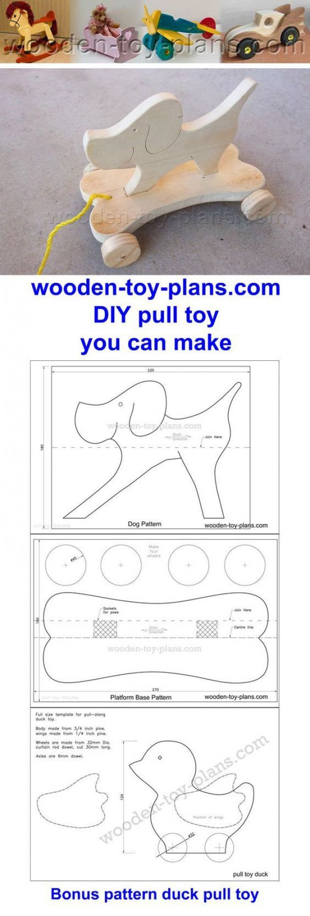 Diy Pull Toy You Can Make With Free Printable Scroll Saw Patterns Includes Bonus Duck Pattern Scroll Saw Patterns Free Scroll Saw Patterns Wooden Toys Plans
