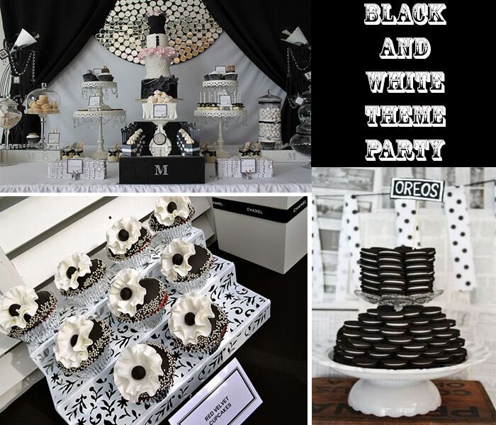 Black And White Party Theme Get All Decoration In The