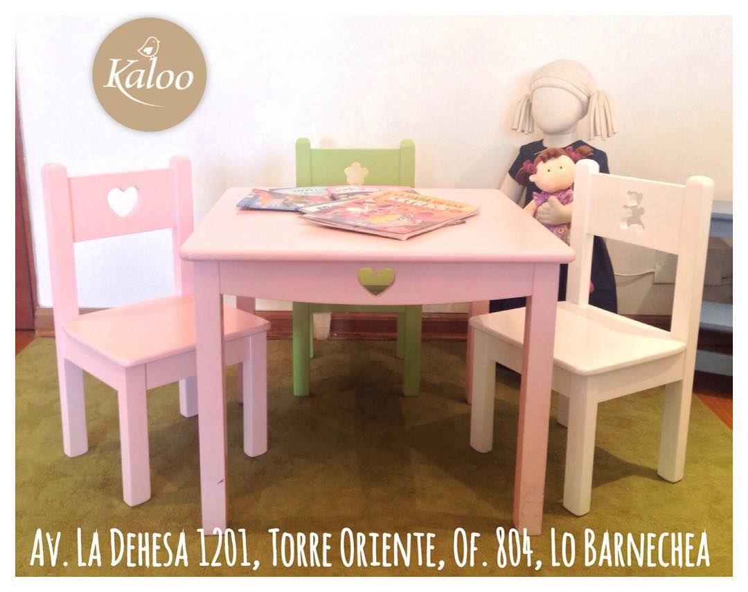 Mesa y sillas infantiles puedes escoger el tono y figura for Silla y mesa para ninos