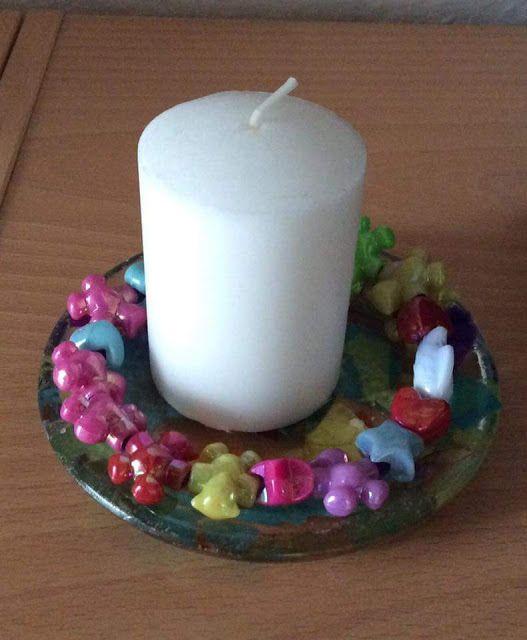 Kreativ FamilieLiv: Lys med perler