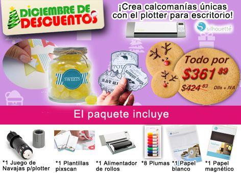 PAQUETE: Plotter para escritorio y accesorios, ideal para calcas ¡a excelente precio!...DICIEMBRE DE DESCUENTO