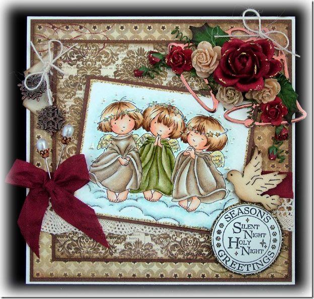 Рождественские открытки с ангелочком своими руками